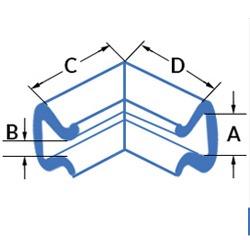 Coltar U Tulip din polietilena expandata (PEE) - Dimensiuni