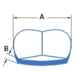 Coltare de protectie din polietilena expandata (PEE) - cut corners : dimensiuni