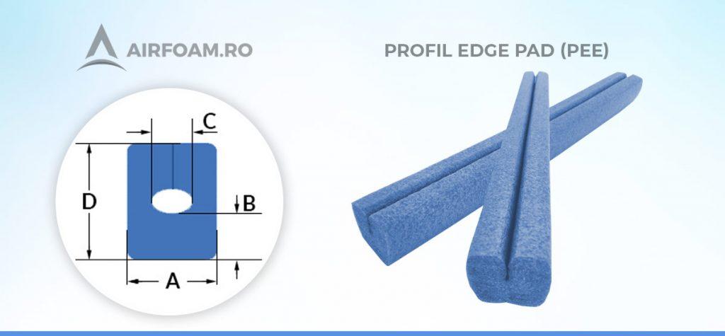 Profil edge din polietilena expandata