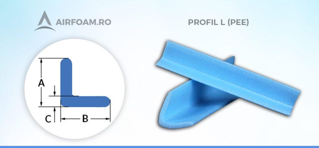 Profil L polietilena expandata