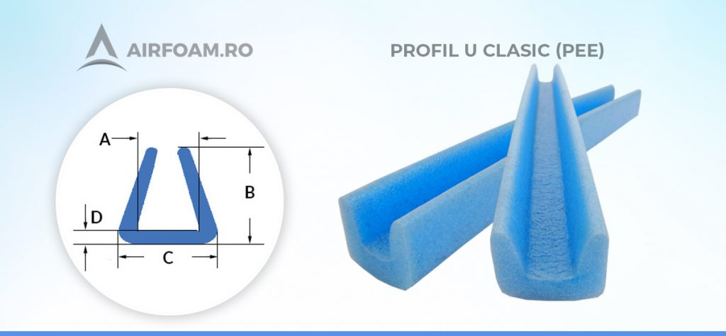 Profil U clasic polietilena expandata