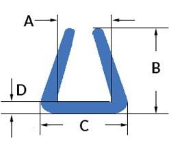 Profil U clasic din polietilena expandata dimensiuni